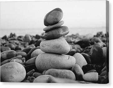 Beach Stones - 3 Canvas Print by Jane M