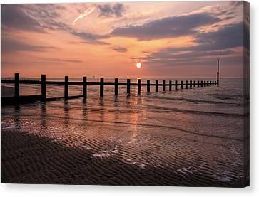 Beach Sunset Canvas Print by Ian Mitchell