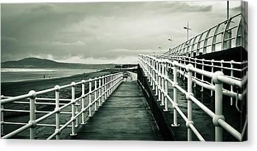 Beach Walkway Canvas Print by Tom Gowanlock