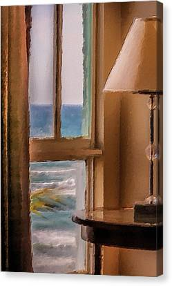 Beach Window Canvas Print by Andrea  OConnell