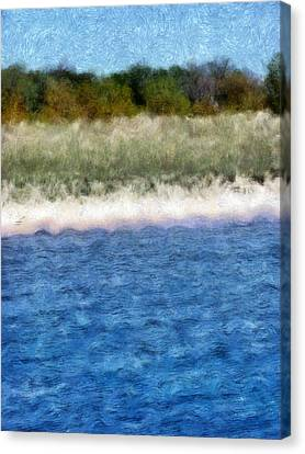 Beach With Short Dune Canvas Print by Michelle Calkins