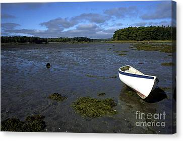 Beached Fishing Boat Canvas Print by Thomas R Fletcher