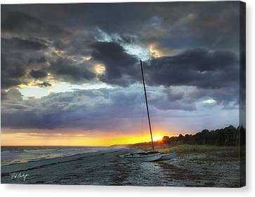 Beached For The Night Canvas Print by Phill Doherty