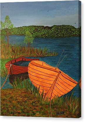 Beached Till The Next Time Canvas Print by Doug Wilkie