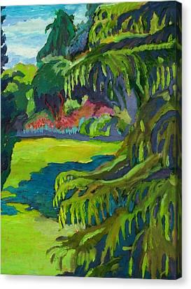 Beacon Hill Park Canvas Print by Janet Ashworth