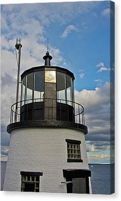 Beacon, Owl's Head Lighthouse, Owl's Canvas Print by Michel Hersen