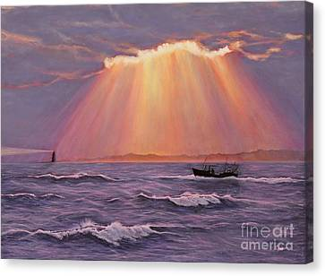 Beacons Of Light Canvas Print by Cindy Lee Longhini