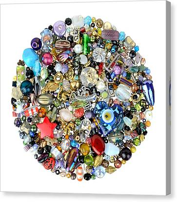 Beads And Charms Canvas Print by Jim Hughes