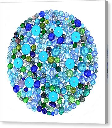 Beads In Blues Canvas Print by Jim Hughes