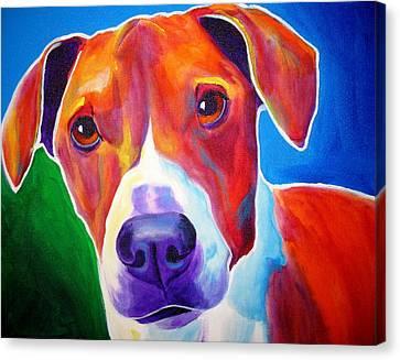 Beagle - Copper Canvas Print by Alicia VanNoy Call