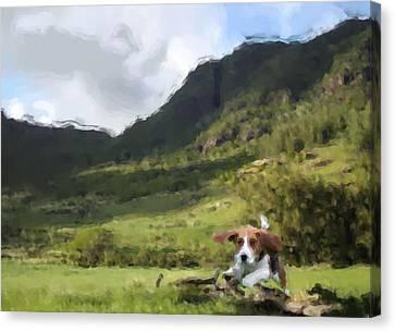 Beagle Love Canvas Print by Gabriel Mackievicz Telles