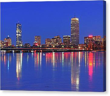 Beantown City Lights Canvas Print by Juergen Roth