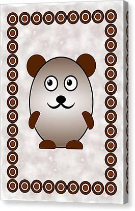 Bear - Animals - Art For Kids Canvas Print by Anastasiya Malakhova