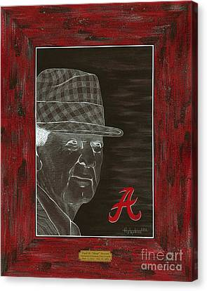 Bear Bryant Canvas Print by Herb Strobino