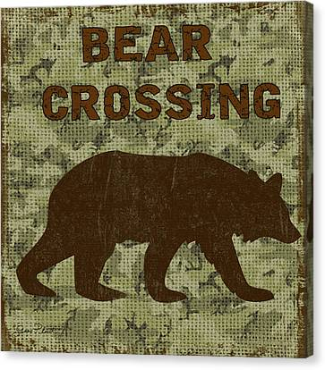 Bear Crossing Canvas Print by Jean Plout