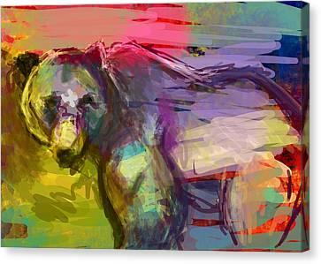 Bear Form Canvas Print by James Thomas
