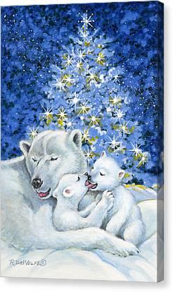 Bear Hug Canvas Print by Richard De Wolfe