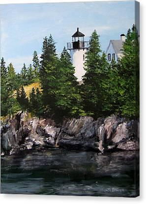 Bear Island Lighthouse Canvas Print by Jack Skinner