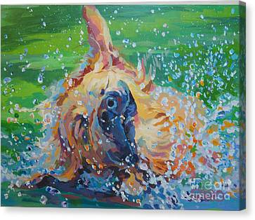 Bear Canvas Print by Kimberly Santini