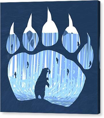 Bear Paw Canvas Print by Daniel Hapi