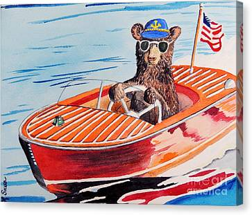 Bearboat Canvas Print by LeAnne Sowa