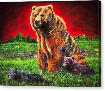 Beargrass Canvas Print by Teshia Art