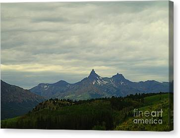 Beartooth Mountain Montana Canvas Print by Jeff Swan
