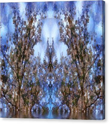 Beast In The Sacred Forest Canvas Print by Pepita Selles