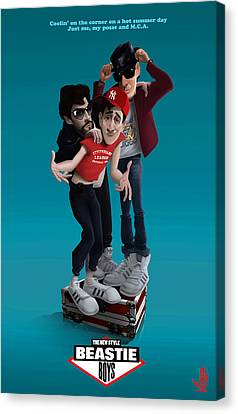 Beastie Boys_the New Style Canvas Print by Nelson Dedos Garcia