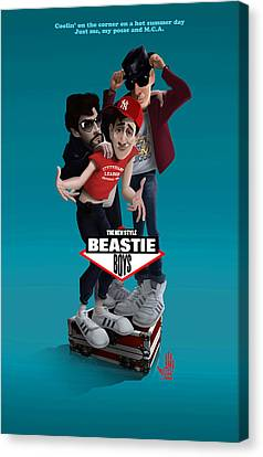 Beatie Boys_the New Style 2 Canvas Print by Nelson Dedos Garcia