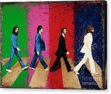 Beatles Crossing Canvas Print by Chris Mackie