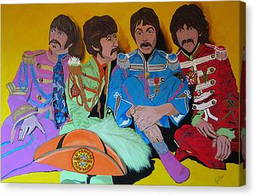 Beatles-lonely Hearts Club Band Canvas Print by Bill Manson