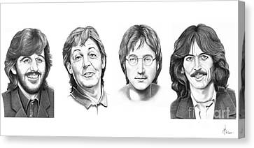Beatles Canvas Print by Murphy Elliott