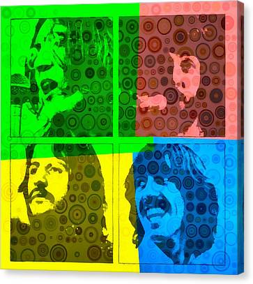 Beatles Pop Art Collage Canvas Print by Dan Sproul