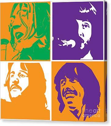 Beatles Vinil Cover Colors Project No.02 Canvas Print by Caio Caldas