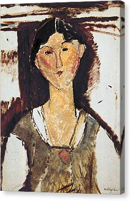 Beatrice Hastings Canvas Print by Amedeo Modigliani