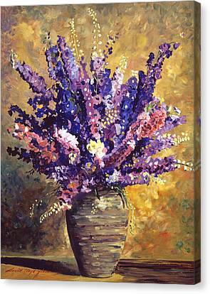 Beaujolais Bouquet Canvas Print by David Lloyd Glover