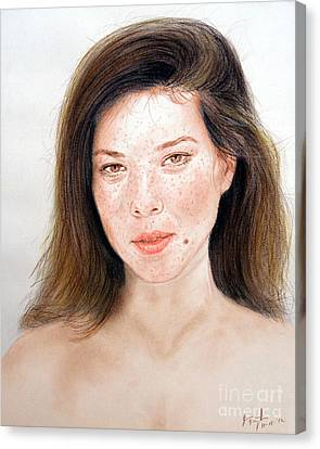 Beautiful Actress Jeananne Goossen Canvas Print by Jim Fitzpatrick