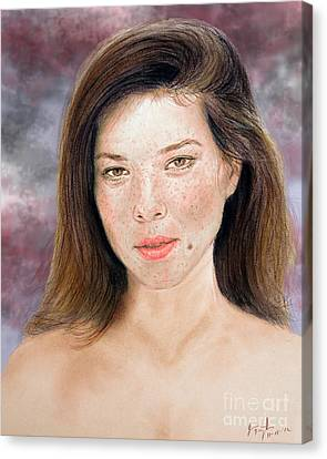 Beautiful Actress Jeananne Goossen Updated Version Canvas Print by Jim Fitzpatrick