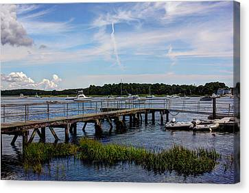 Beautiful Day In Newburyport Harbor Canvas Print by Laura Duhaime