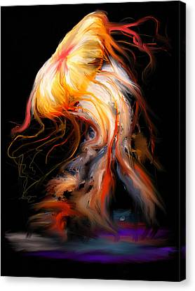 Beautiful Death - Jelly Fish Canvas Print by Angela A Stanton