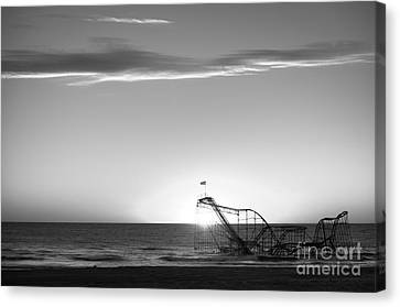 Beautiful Disaster Bw Canvas Print by Michael Ver Sprill