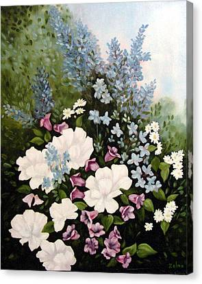 Beautiful Floral Canvas Print by Zelma Hensel