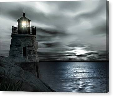Beautiful Light In The Night Canvas Print by Lourry Legarde