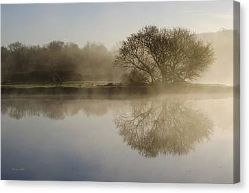 Beautiful Misty River Sunrise Canvas Print by Christina Rollo