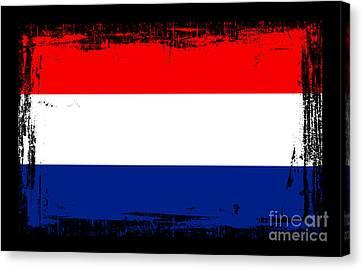 Beautiful Netherlands Flag Canvas Print by Pamela Johnson
