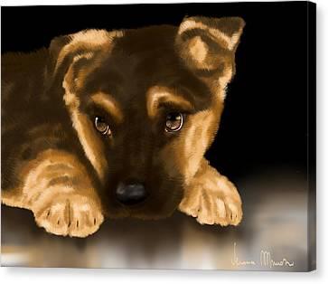 Beautiful Puppy Canvas Print by Veronica Minozzi