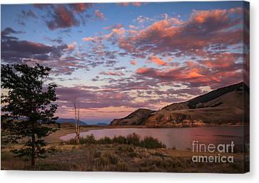 Beautiful Sunset Over Mackay Reservoir Canvas Print by Robert Bales