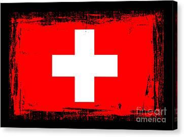 Beautiful Switzerland Flag Canvas Print by Pamela Johnson