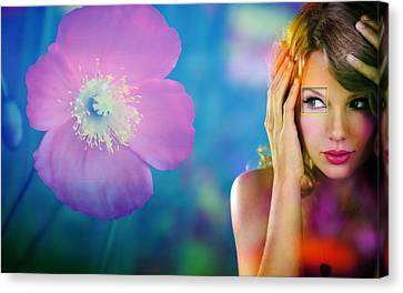 Beautiful Taylor Swift Canvas Print by Marvin Blaine